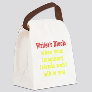 writers-block2 Canvas Lunch Bag