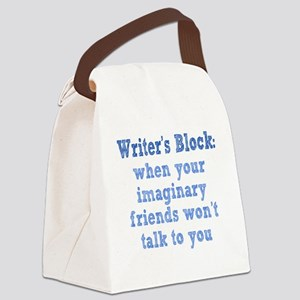 writers-block1 Canvas Lunch Bag