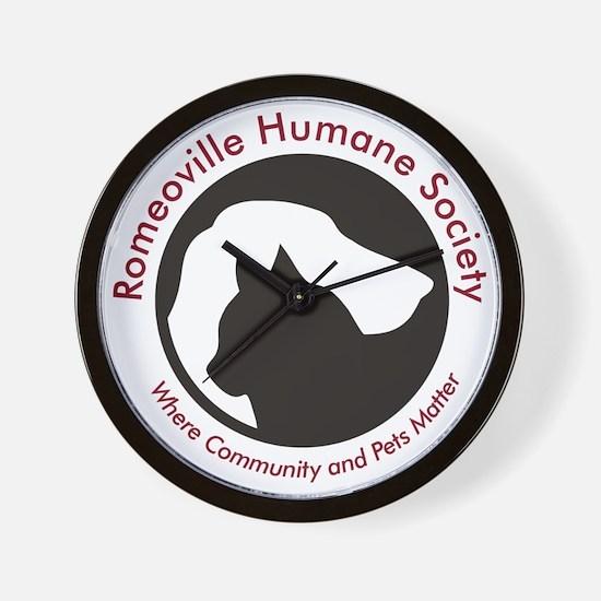 Romeoville Humane Society Logo 2010-Hig Wall Clock