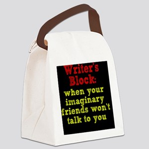 writers-block_rnd2 Canvas Lunch Bag