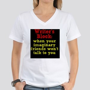 writers-block_rnd2 Women's V-Neck T-Shirt