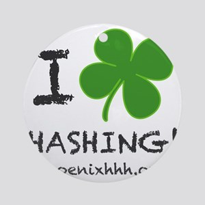 I Clover Hashing Round Ornament