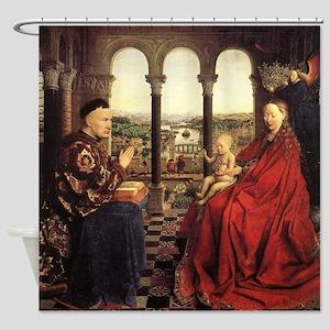 The Virgin of Chancellor Rolin Shower Curtain