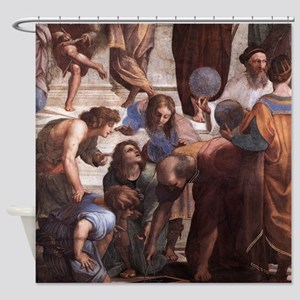 School of Athens (detail - Euclid) Shower Curtain