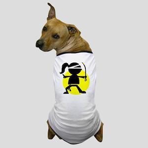 Ninja Girl Karate Dog T-Shirt