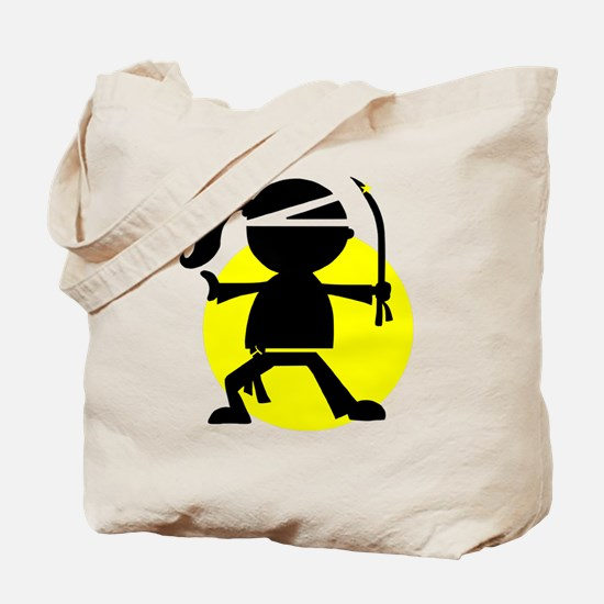 Ninja Girl Karate Tote Bag
