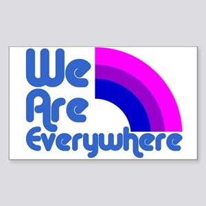 We Are Everywhere Bi Pride Rectangle Sticker