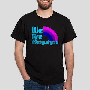 We Are Everywhere Bi Pride Dark T-Shirt