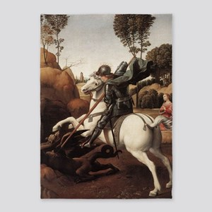 St George and the Dragon 5'x7'Area Rug