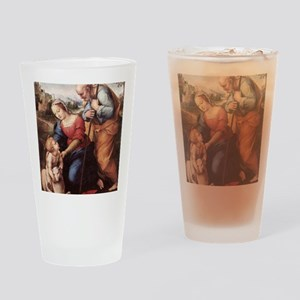 The Holy Family with Lamb Drinking Glass