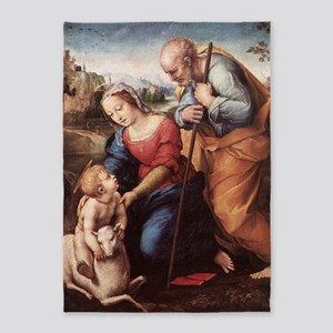 The Holy Family with Lamb 5'x7'Area Rug