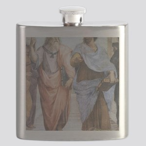 School of Athens (detail - Plato  Aristotle) Flask