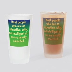 conceited_rnd2 Drinking Glass