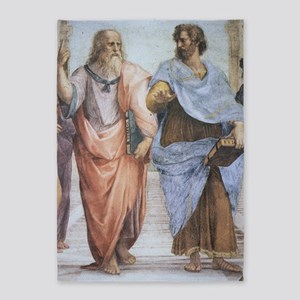 School of Athens (detail - Plato  A 5'x7'Area Rug