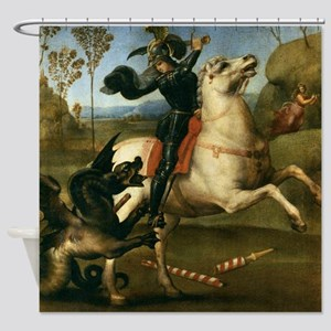 St George Fighting the Dragon Shower Curtain