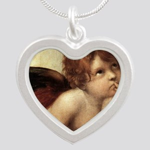 The Sistine Madonna (2nd det Silver Heart Necklace