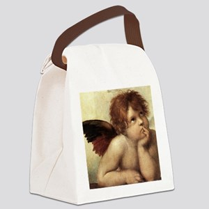 The Sistine Madonna (2nd detail) Canvas Lunch Bag