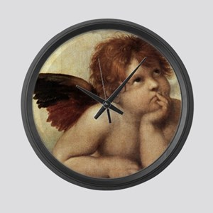 The Sistine Madonna (2nd detail) Large Wall Clock