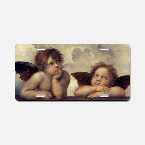 The Sistine Madonna (detail Aluminum License Plate