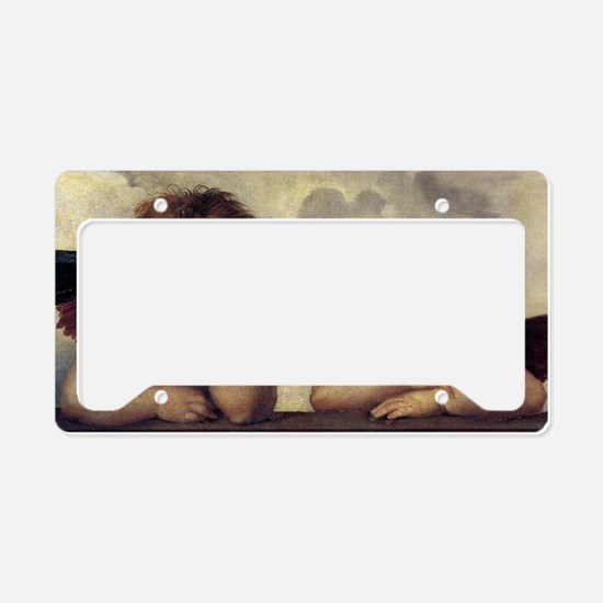 The Sistine Madonna (detail) License Plate Holder