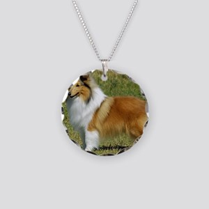 Shetland Sheepdog 9P033D-220 Necklace Circle Charm