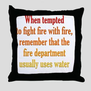 fight-fire_tall1 Throw Pillow