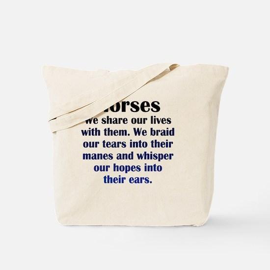 horses_Rnd1 Tote Bag