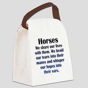 horses_Rnd1 Canvas Lunch Bag