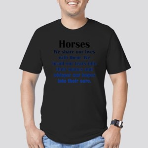 horses1 Men's Fitted T-Shirt (dark)
