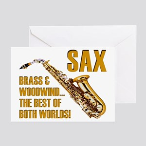 Sax - The Best of Both Worlds Greeting Cards (6)