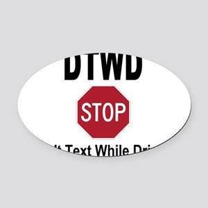 9000x7000 POSTER Oval Car Magnet