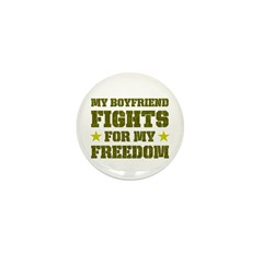 My Boyfriend Fights for Freedom Mini Button