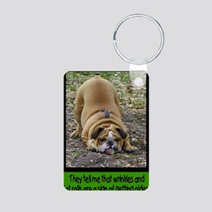 WrinkleCard1 Aluminum Photo Keychain