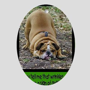 WrinkleCard1 Oval Ornament