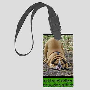 WrinkleCard1 Large Luggage Tag