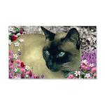 Stella Siamese Cat Flowers 20x12 Wall Decal