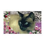 Stella Siamese Cat Flowers 35x21 Wall Decal