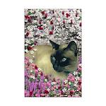 Stella Siamese Cat Flowers Mini Poster Print