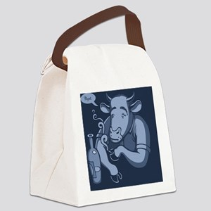 blue-cowski2-TIL Canvas Lunch Bag