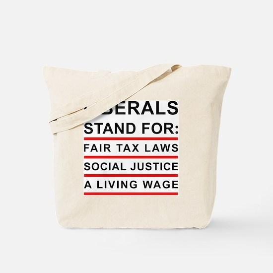 LIBERALS_WHITE_FINAL Tote Bag