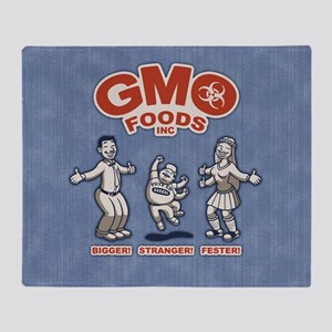 gmo-2-BUT Throw Blanket