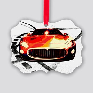 Maserati Front 2 Picture Ornament