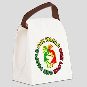 Kokopellis 10x10 black t-shirt3 Canvas Lunch Bag