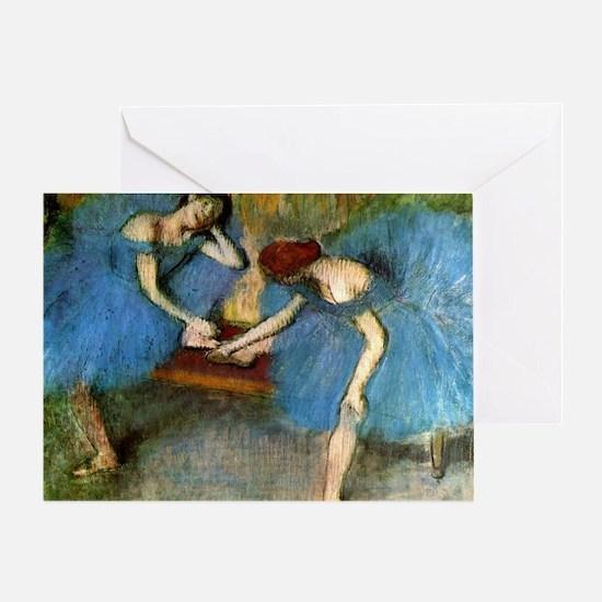 degas two dancers Greeting Card