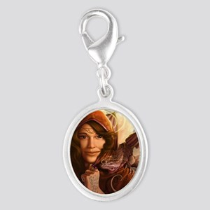 Wandering Muse 14x10_framed Silver Oval Charm
