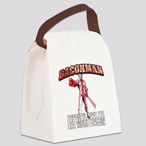 BACONMAN-TSHIRT Canvas Lunch Bag