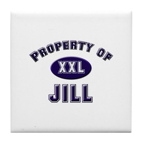 Property of jill Tile Coaster