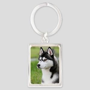 Siberian Husky 9Y570D-006 Portrait Keychain