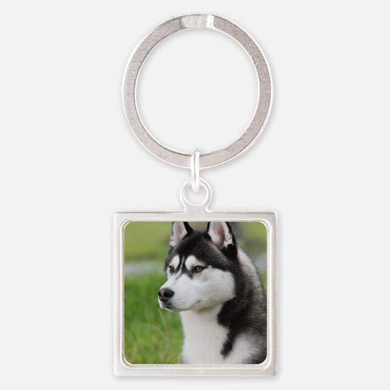 Siberian Husky 9Y570D-006 Square Keychain