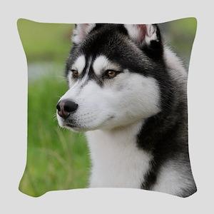 Siberian Husky 9Y570D-006 Woven Throw Pillow
